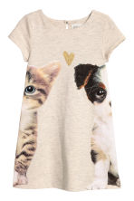 Patterned dress - Beige/Animals - Kids | H&M 1