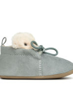 Soft slippers - Dusky green - Kids | H&M CN 3