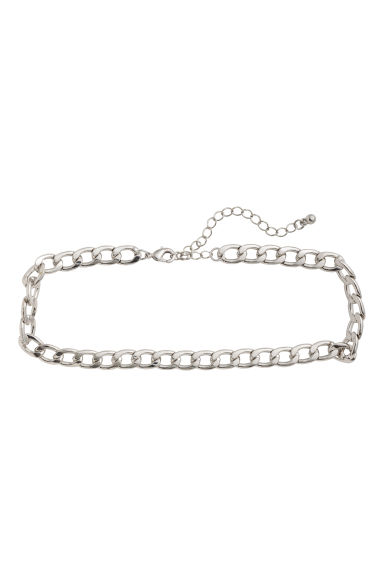 Short necklace - Silver-coloured -  | H&M IE