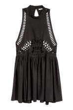 Embroidered dress - Black - Ladies | H&M 2