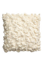 Chunky-knit cushion cover - Natural white - Home All | H&M CN 1