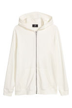 Slub jersey hooded jacket - White - Men | H&M 2