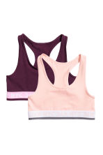 2-pack tops - Powder pink - Kids | H&M 1