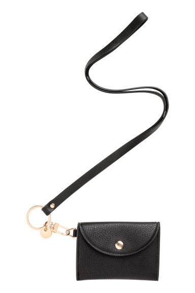 Key Lanyard with Card Case - Black - Ladies | H&M CA 1