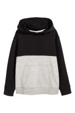 連帽上衣 - Black/Light grey - Kids | H&M 2