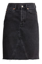 Knee-length denim skirt - Black - Ladies | H&M GB 2