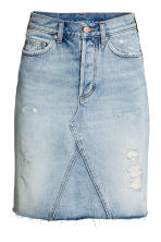 Knielange denim rok - Lichtblauw - DAMES | H&M BE 2