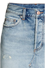 Knielange denim rok - Lichtblauw - DAMES | H&M BE 4