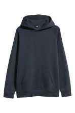 Hooded top with raglan sleeves - Dark blue - Men | H&M CN 2