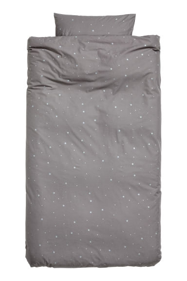 Star-print duvet cover set - Grey/Stars -  | H&M IE