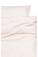 Star-print duvet cover set - Natural white/Stars -  | H&M CN 2