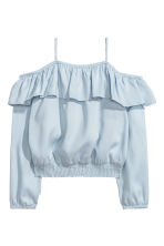Flounced blouse - Blue - Kids | H&M CN 2