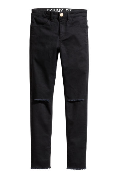 Generous fit Stretch trousers - Black - Kids | H&M 1