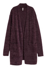 Long cardigan - Dark purple - Ladies | H&M CN 3