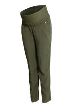 MAMA Jacquard-weave trousers - Khaki green - Ladies | H&M CN 2