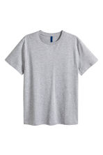 Round-necked T-shirt - Grey marl - Men | H&M CA 2