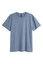 Round-necked T-shirt - Dark blue marl - Men | H&M CN 1