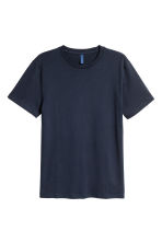 Round-necked T-shirt - Dark blue - Men | H&M 2