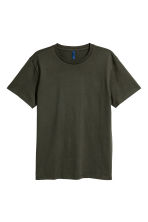 Round-necked T-shirt - Dark khaki green - Men | H&M 2