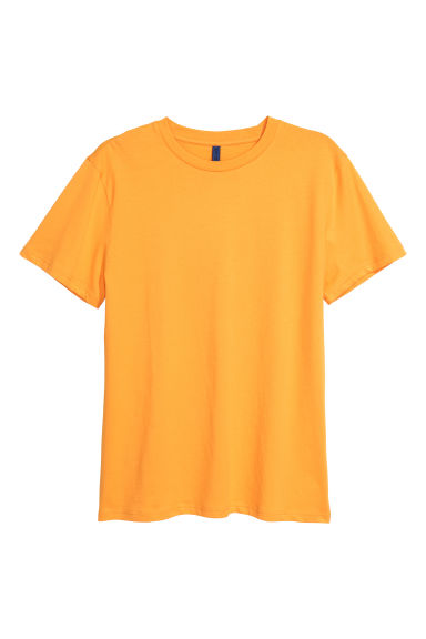 Round-necked T-shirt - Yellow - Men | H&M 1