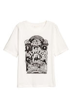 T-shirt with a print motif - White/Led Zeppelin - Ladies | H&M 2