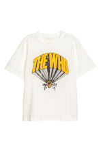 T-shirt with a print motif - White/The Who - Ladies | H&M CN 2