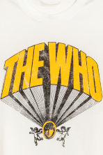 T-shirt med tryck - Vit/The Who - Ladies | H&M FI 3
