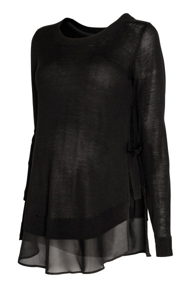 MAMA Fine-knit nursing jumper - Black - Ladies | H&M IE