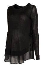 MAMA Fine-knit nursing jumper - Black - Ladies | H&M 2