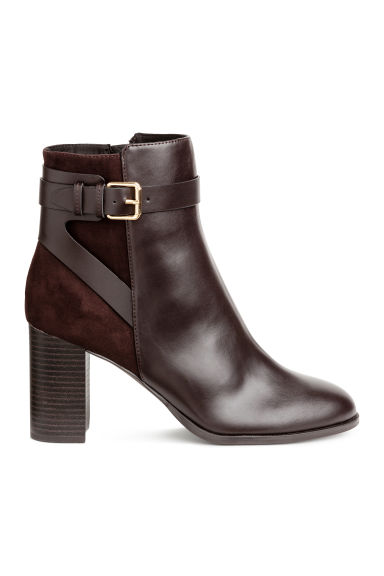 Ankle boots - Dark brown - Ladies | H&M CN