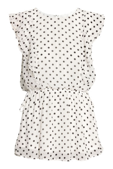 MAMA Patterned nursing blouse - White/Spotted - Ladies | H&M