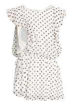 MAMA Patterned nursing blouse - White/Spotted - Ladies | H&M CN 3