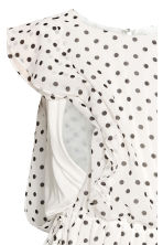 MAMA Patterned nursing blouse - White/Spotted - Ladies | H&M CN 4