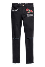 Twill trousers Skinny fit - Black - Kids | H&M 1