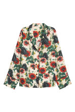 Wide shirt - Natural white/Floral -  | H&M GB 2