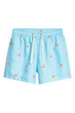 Short swim shorts - Light blue/Grapefruit - Men | H&M GB 2
