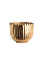 Small metal plant pot - Gold-coloured - Home All | H&M CN 2
