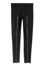 Leggings with zips - Black -  | H&M IE 2