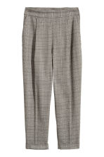 Wide trousers - Beige/Black patterned - Ladies | H&M 2