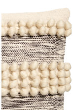 Cushion cover with pompoms - Natural white - Home All | H&M CN 3
