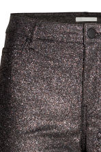 Pantaloni stretch glitter - Nero/glitter - DONNA | H&M IT 4