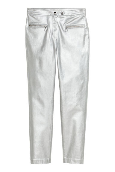 Trousers - Silver-coloured - Ladies | H&M