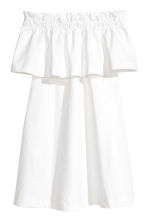 Off-the-shoulder dress - White -  | H&M 2