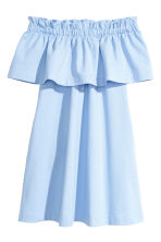 Off-the-shoulder dress - Light blue - Ladies | H&M 2