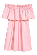 Off-the-shoulder dress - Light pink - Ladies | H&M CA 2