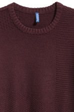 Textured-knit jumper - Burgundy - Men | H&M IE 3