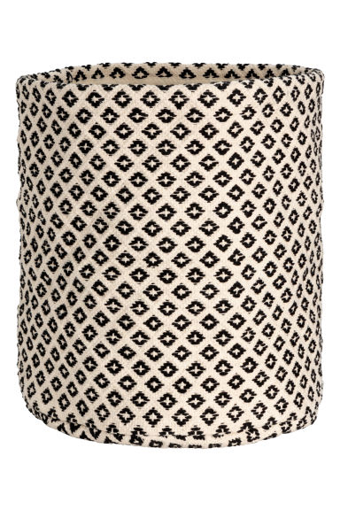 Large cotton storage basket - White/Black - Home All | H&M CN 1