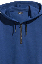 Sweat à capuche avec zip - Bleu chiné -  | H&M FR 3