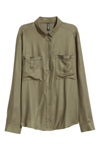 Utility shirt - Khaki green - Ladies | H&M GB