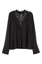 Crêpe blouse - Black - Ladies | H&M 2